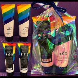 NEW RARE BBW SET LOVE IS HERE PRIDE LOTIONS